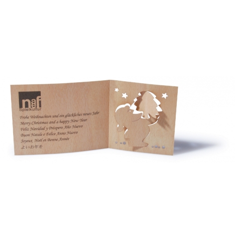 Individuelle Weihnachtskarten.Holz Weihnachtskarten Individuell Gestaltet